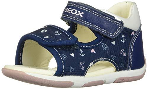 Geox Mädchen B TAPUZ Girl A Sandalen, Blau (Navy/Pink C0694), 20 EU