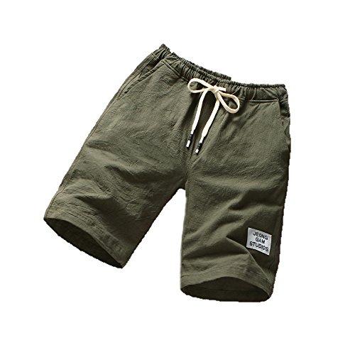 NEEKY Männer Shorts Sport Herren Strandhosen Sport Atmungsaktive Modehosen Sommer Fitness Laufhosen Herren Bade Shorts Kurz Diesel(L,Armeegrün)