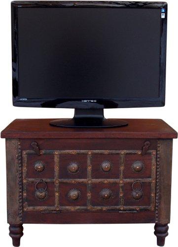 bambus-discount.com TV Kolonialmöbel als Fernsehtisch mit 50x70x40cm - Massivholzmöbel, Kolonialmöbel, Möbel im...