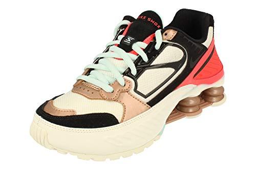 Nike Shox Enigma - Zapatillas para correr para mujer Ct3451, (Vela Negro Metálico Rojo Bronce 100), 38.5 EU
