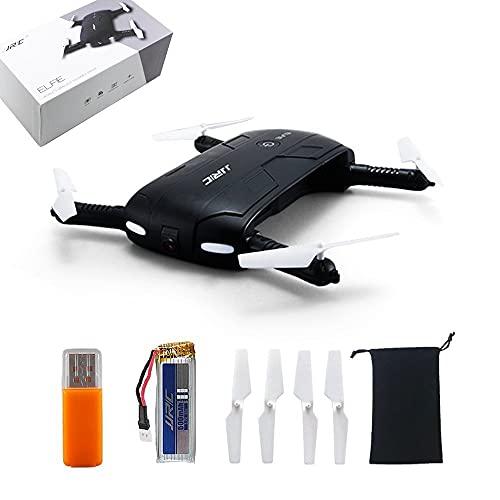 LNHJZ Pocket Selfie Drone Quadcopter, JJRC H37 Elfie Pocket Fold Fotografia Portatile WiFi FPV con Fotocamera da 0,3 MP Controllo del Telefono Droni RC Quad Elicottero RTF Helicopte
