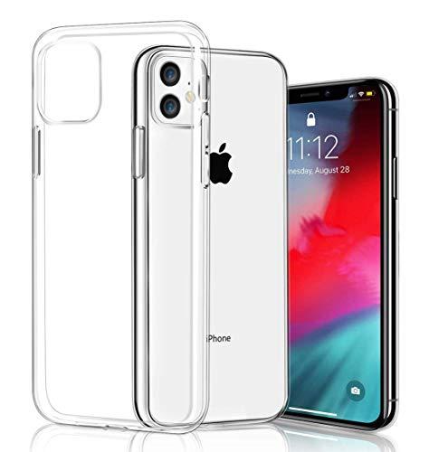 COVERbasics Cover iPhone 11 (AIRGEL 0.3mm) Custodia Trasparente in Silicone Gel Gomma TPU Sottile Ultra Thin Slim con Bordo Protezione Proteggi Fotocamera Compatibile con Apple iPhone 11 XI 6.1