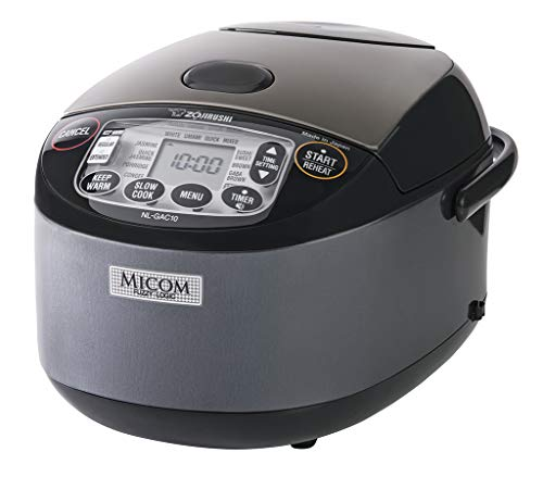 Zojirushi NL-GAC10 BM Umami Micom Rice Cooker & Warmer, 5.5-Cup, Metallic Black, Made in Japan