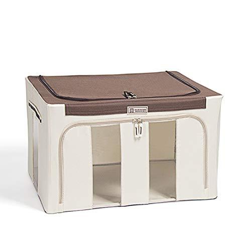 Domeilleur Oxford Cloth Steel Frame Aufbewahrungsbox für Kleidung Bettlaken Decke Kissen Schuhhalter Container Organizer Faltbar mit stabilem Reißverschluss
