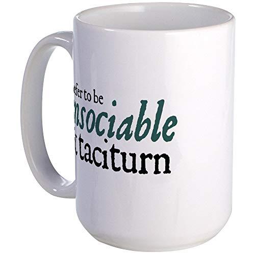 N\A Jane Austen Unsociable Taza de café Grande, Grande de 11 oz. Taza de café con Leche