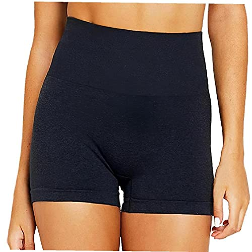 Yoga Shorts Frauen Kurze Gamaschen Anti-Licht mit hoher Taille Workout Tights Trainingshosen Sport Shorts Tights Training Pants Rosa XL