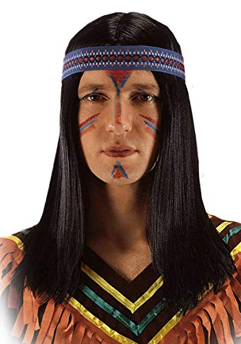 Carnaval Toys - Perruque de fête et de Carnaval - Rouge 2250 - Multicolore - 8004761022501