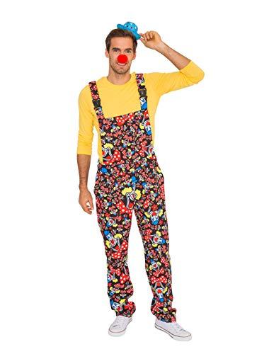 Deiters Latzhose Clown schwarz Größe: L