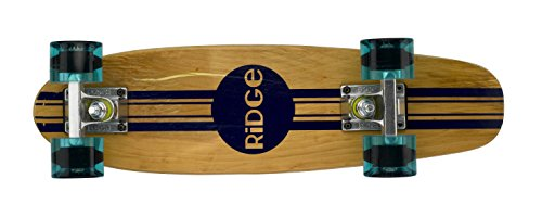 Ridge Skateboards 7-Ply Ahorn Holz Mini Cruiser Board Skateboard, komplett, 56cm