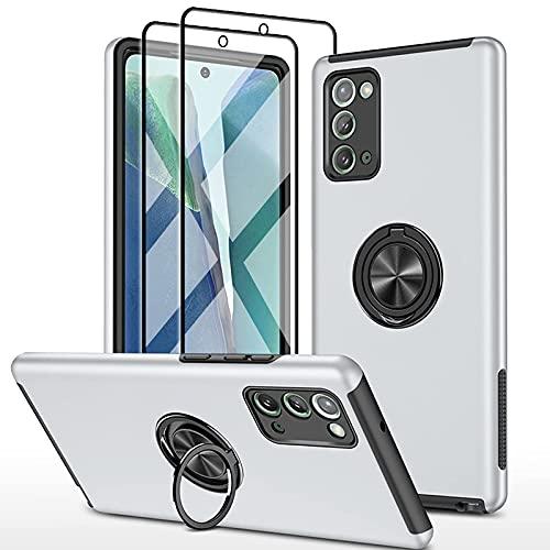 SmaCase Funda Compatible con Samsung Galaxy Note 20 Ultra Carcasa +2 Piezas Protector de Pantalla 360 Grados Anillo Giratorio para Soporte...