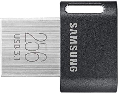 Samsung MUF-256AB 256GB 3.1 (3.1 Gen 1) Conector USB Tipo A Negro, Acero inoxidable unidad flash USB - Memoria USB (256 GB, 3.1 (3.1 Gen 1), Conector USB Tipo A, Girar, 3,1 g, Negro, Acero inoxidable)