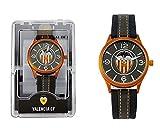 Valencia C.F. Reloj Analógico-Digital para Unisex-Adulto de Automático con Correa en Cuero sintético 68600