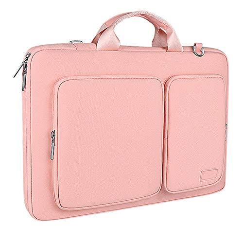 WANXJM Solid Anti Collision Laptop Bag, Men Women Waterproof Handbag,Travel Suitcase Business Document Bag,Pink,M