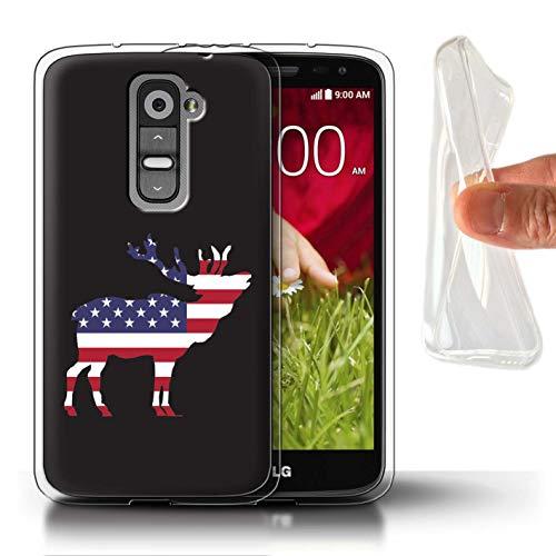 Stuff4 Telefoonhoesje/Cover/Skin/LG-GC/USA America Pride Collectie LG G2 Mini/D620 Elk stier jager trofee