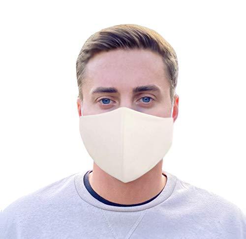 NIMBIM Mundschutz, Mundnasenschutz Maske mit antibakterielle Silberfasern, waschbare Damen Herren und Kindermaske, atmungsaktive Behelfsmaske, Spuckschutz Maske in schwarz und weiß