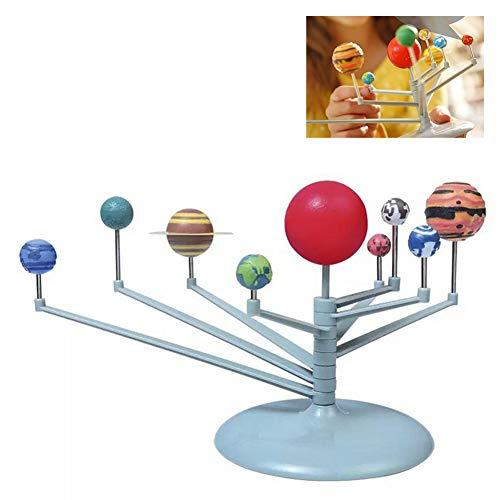 Beito 1Set Nueve Modelos De Planetas De Juguete Puzzle De Ensamblaje del Sistema Solar Modelo Planetario Juego De Juguetes DIY Juguetes Educativos AstronMicos para NiOs Adolescentes