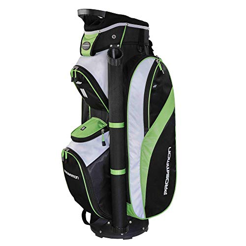 Prosimmon Tour 14 Way Cart Golf Bag Black/Green