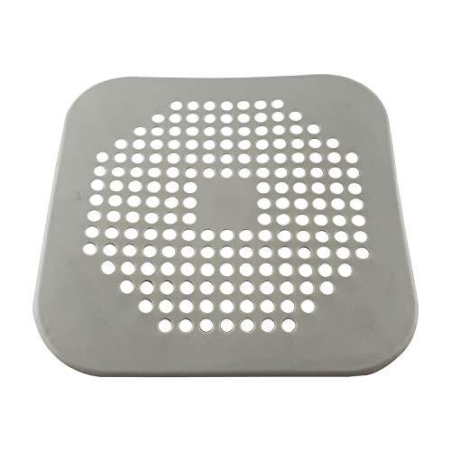 CZ Store Filtro de Desagüe de Caucho - Gris - ✮✮GARANTÍA POR VIDA✮✮ - Tapón de Goma de Silicona, Filtro de Ducha, Rejilla para Baño - Atrapa Pelo y Restos de Comida - Ventosa Antideslizante