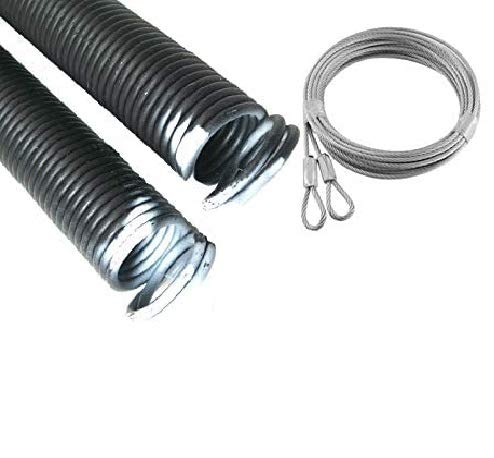 Great Features Of Pair 27-48-110lbs 8' White Garage Door Extension Spring & Safety Cables Repair