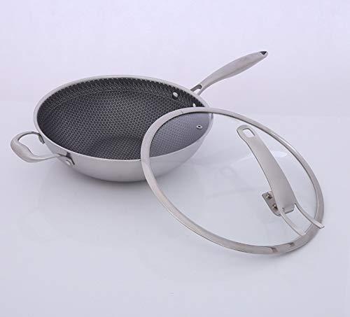MZG Hogar wok de acero inoxidable, sin humo de aceite wok, sencilla y creativa wok.