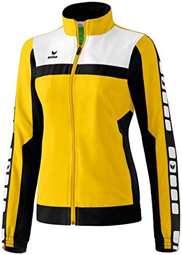 Erima Damen Classic 5-C Jacke Sports-/Präsentationsjacke, gelb/schwarz/weiß, 46
