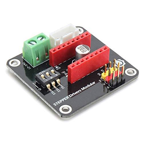 3D Drucker 42CH Schrittmotortreiber Schild Erweiterungskarte DRV8825 / A4988 UNO R3 Kaemma(Color:Black)