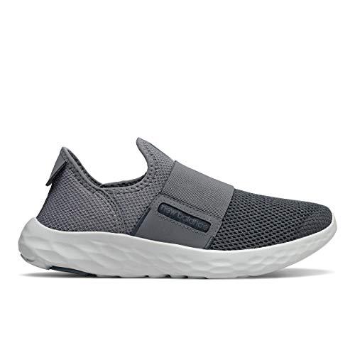 New Balance mens Fresh Foam Sport V2 Alternative Closure Running Shoe, Grey/Grey, 10.5 X-Wide US