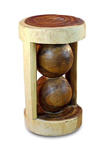 Kinaree 50cm houten bijzettafel - nachtkastje EL Nido massief acacia natuur
