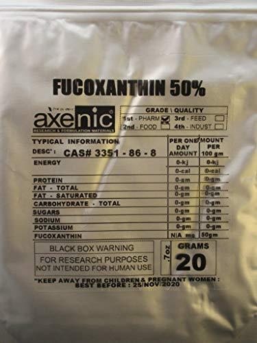 100 gramos FUCOXANTHIN 50% Polvo, extracto de algas marrones