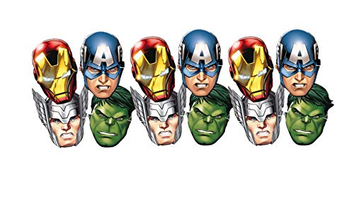 ALMACENESADAN 0554, Pack 12 caretas Avengers, para Fiestas y cumpleaños