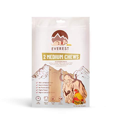 Everest Dog Chew Confezione da 2 Pezzi Cane da Masticare, Snack Bar con Latte di Yak per Cani (Taglia Media)