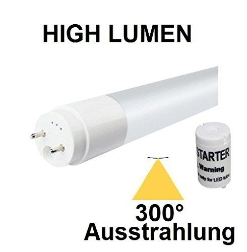 150 cm LED Röhre T8-G13 20 Watt, 300° AUSSTRAHLUNG, 2650 LUMEN, Tageslichtweiß/Kaltweiß 6000 Kelvin, 1:1 Ersatz für 58 Watt Leuchtstoffröhren - inclusive LED Starter