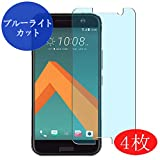 4 Pack Synvy Anti Blue Light Screen Protector for HTC 10 (HTC One M10) HTV32 / HTC One 2 Perfume HTC M1 Anti Glare Screen Film Protective Protectors [Not Tempered Glass]