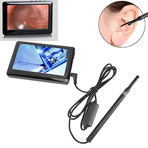 Telecamera USB per otoscopio-orecchio, schermo da 4,3 pollici HD Orecchio visivo Cucchiaio per orecchio Endoscopio per naso orale Cavità endoscopica Orecchio per videocamera