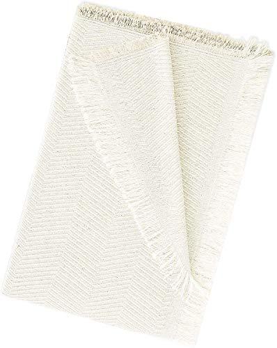 EURASIA - Colcha Multiusos para Sofá Estampado Espiga - Plaid Multiusos para Cama - Foulard Ideal para Sofás y Camas (Crudo, 180 x 260 cm)