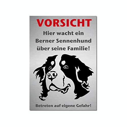 Generisch Berner Sennenhund Hunde Warnschild A4 | Hundeschilder | 77WS | Schild | Türschild