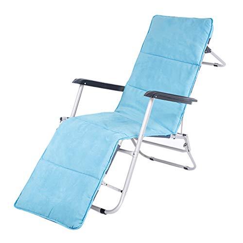 Fauteuil Pliant Bleu Portatif Extérieur Chaise De Plage De Soleil 184CM Inclinable