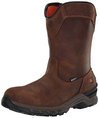 Timberland PRO Men's Hypercharge Pull on Soft Toe Waterproof Industrial Boot, Brown, Numeric_9_Point_5 🔥