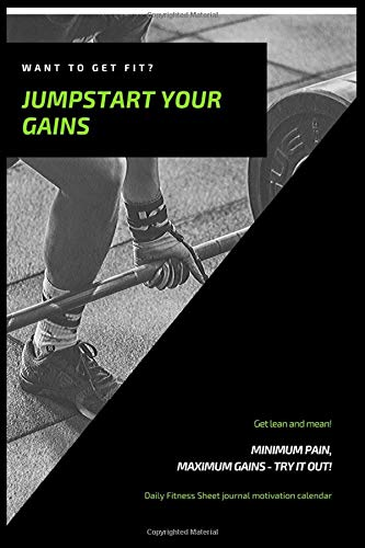 jumpstar your gains : Fitness Journal And Planner 2020, Fitness Progress Journal, Fitness Journal notebook , Bodybuilding exercise notebook Bodybuilding & Weight Training notebook, Workout Planner