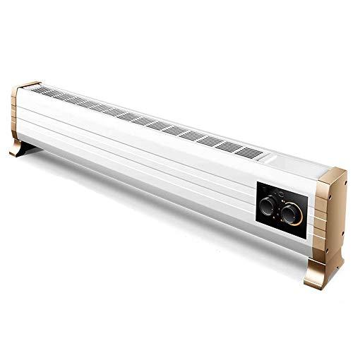 MUTANG Calentador eléctrico de la Placa Base de la Placa Base, el radiador convector, calefacción por Suelo Radiante móvil, botón mecánico eficiente de la energía, IP24 a Prueba de Agua, 1800W