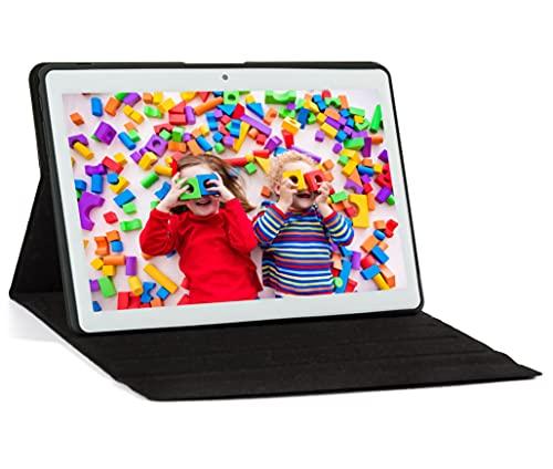 JANWIL Tablet 10 Zoll Android 10.0 Quad-Core RAM 4 GB ROM 64 GB 8000 mAh Akku Kamera 5 MP 8 MP WLAN GPS Type-C Dual-SIM-Karte Lamada 3G Tablet Mit Schutzhülle