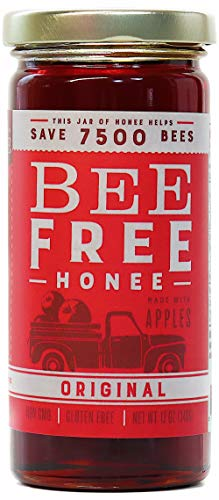 "Bee Free Honee – Vegan ""Honey"" made from Organic Apples that's Safe for Children & those allergic to Honey! Tasty Honee that's Plant Based, Non-GMO & Cooks Perfectly into your foods! (Original - 12oz)"
