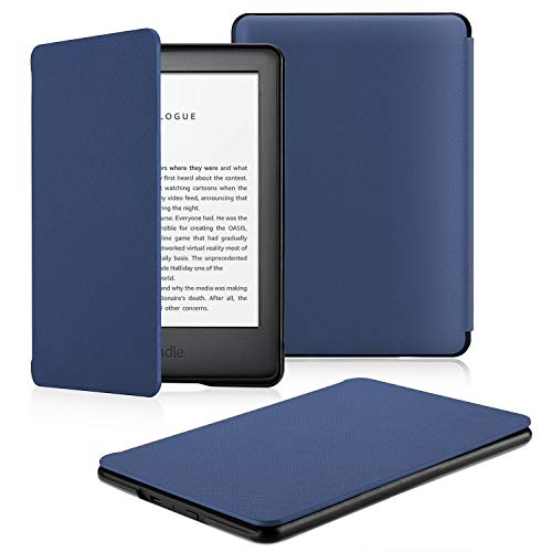 OMOTON Custodia Intelligente per Nuovo Kindle 2019 (Versione Base) Decima Generazione- Auto Wake/Sleep - Cover Sottile e Leggera in PU Pelle, Blu