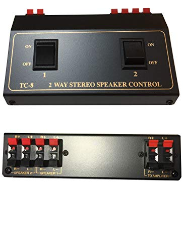 2 Pair Speaker Selector Switch Switcher Splitter Box
