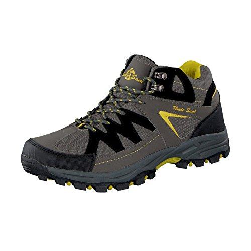 Uncle Sam Herren Outdoor Boots in Grau/Schwarz/Gelb, Größe:42;Farbe:Grau/gelb