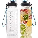 BOTTLED JOY 32oz Water Bottle, BPA Free Water...
