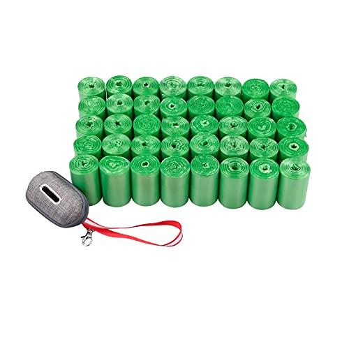 Ordate Kotbeutelspender Kotbeutel für Hunde Hundekotbeutel mit Spender, Grün, 350 Beutel, 10 Rollen