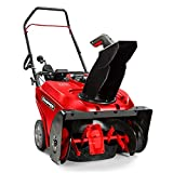 Snapper 1697340 Single Stage Snow Thrower with Snow Shredder Technology and Electric Start, 22-Inch