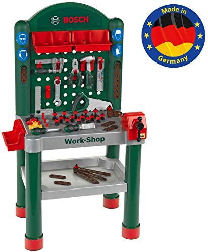 Theo Klein 8320 8320-Bosch Bosch Workshop I 79-teilig|Arbeitsplatte mit Lernfunktion I Maße: 50 cm 37 cm 102 cm I Spielzeug für Kinder ab 3 Jahren, Multicolor