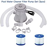 Pool Water Cleaner Filter Pump Set (3pcs)| Electric Filter Pump Swimming Pool Filter